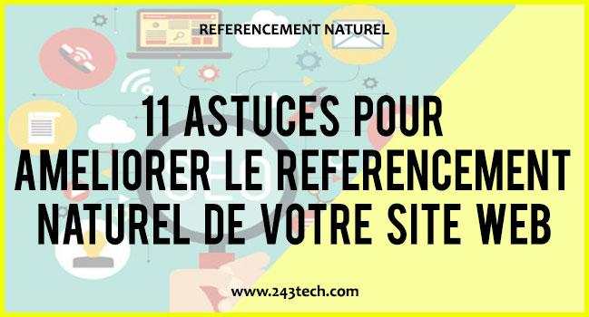 11 astuces pour améliorer le référencement naturel de votre site web