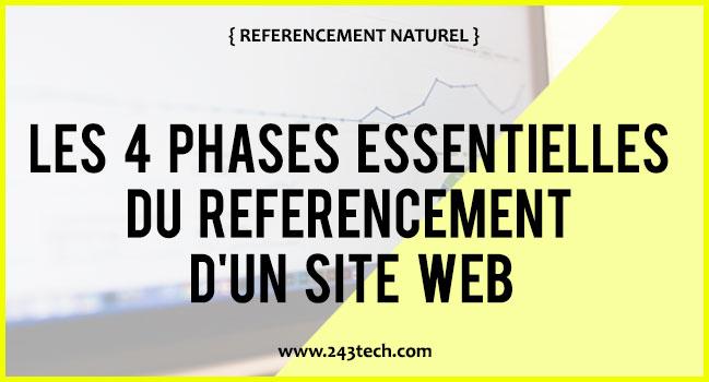 Les 4 phases essentielles du référencement d'un site web