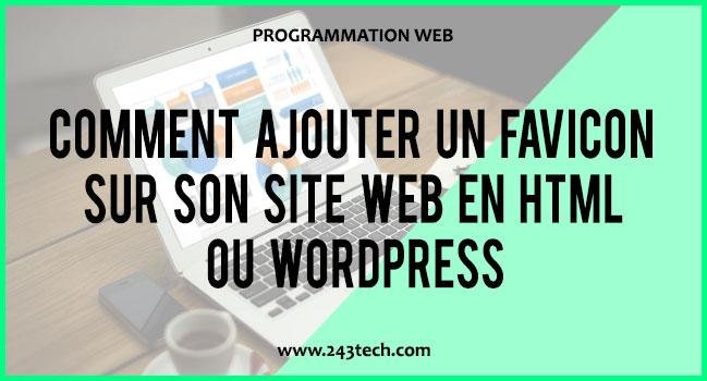 Comment ajouter un favicon sur son site web en HTML ou WordPress