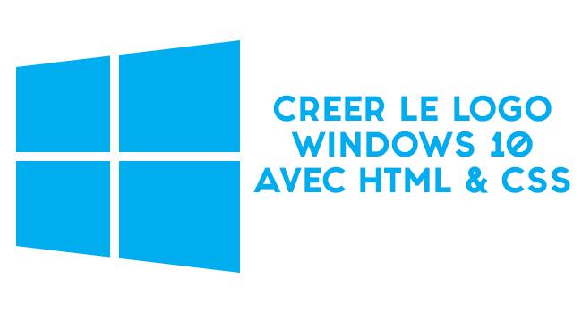 Créer le logo Windows 10 avec HTML et CSS