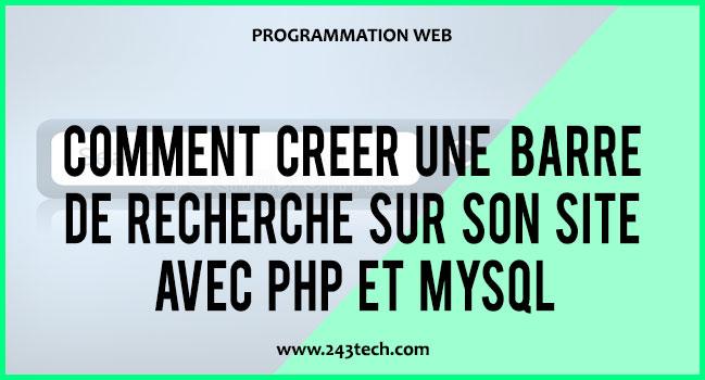 Comment créer une barre de recherche sur son site avec PHP et MySQL