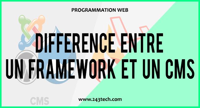 Différence entre un framework et un CMS