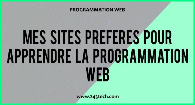 Mes sites préférés pour apprendre la programmation web