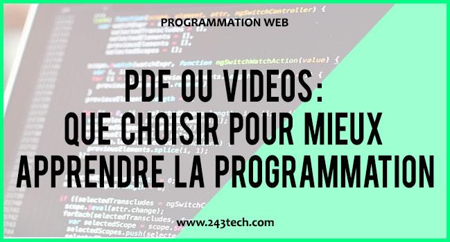 PDF ou Vidéos : Que choisir pour mieux apprendre la programmation