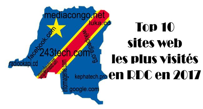RDC: les sites les plus visités