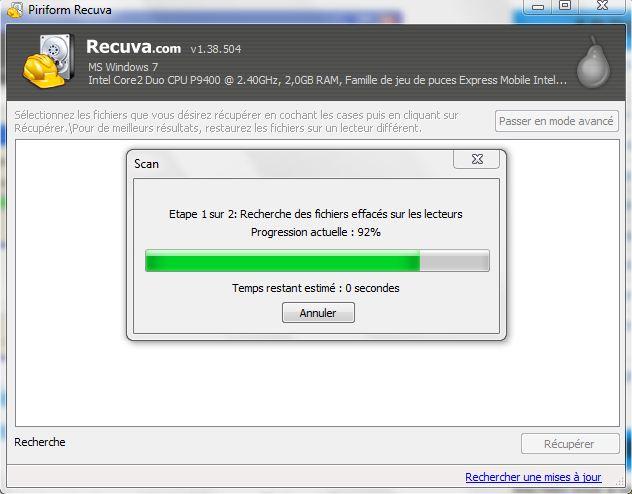 Récupérer les fichiers supprimés dans un ordinateur avec Recuva