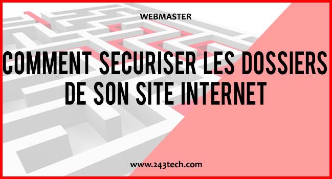 Comment sécuriser les dossiers de son site internet