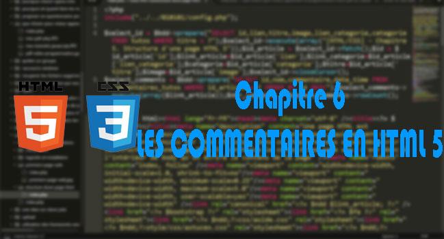 [HTML/CSS] - Chapitre 6. Les commentaires en HTML 5
