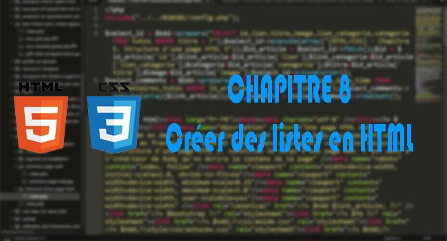 [HTML/CSS] - Chapitre 8. Créer des listes en HTML